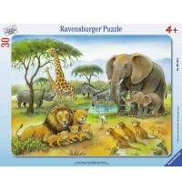 Ravensburger Puzzle - Rahmenpuzzle - Dschungeltiere, 30 Teile