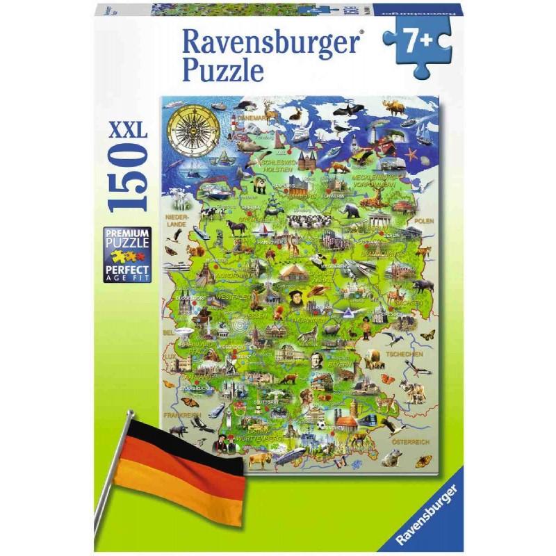 Ravensburger Puzzle - Meine Deutschlandkarte, 150 XXL ...