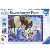 Ravensburger Puzzle - Die Eiskönigin - Völlig Unverfroren - Familienzauber, 100 XXL-Teile