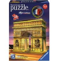 Ravensburger Puzzle - 3D Puzzles - Triumphbogen Night Edition, 216 Teile