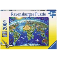Ravensburger Puzzle - World Landmarks, 200 Teile