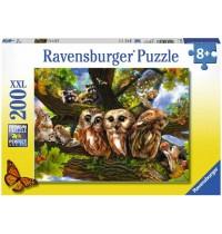 Ravensburger Puzzle - Niedliche Eulen, 200 XXL-Teile