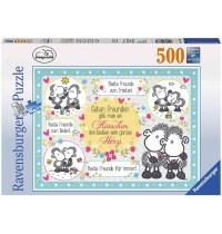 Ravensburger Puzzle - Guten Freunden gibt man ein Küsschen, 500 Teile