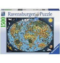 Ravensburger Puzzle - Kunterbunte Erde, 1500 Teile