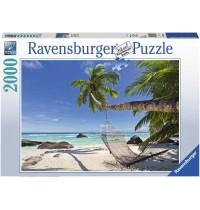 Ravensburger Puzzle - Hängematte am Strand, 2000 Teile