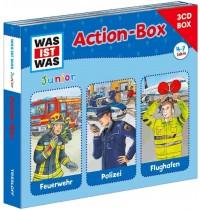 Tessloff - Was ist Was Junior - CD - 3er Hörspiel-Actions-Box: Feuerwehr / Polizei / Flughafen