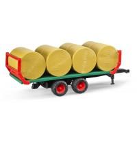 BRUDER - Ballentransportanhänger mit 8 Rundballen