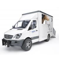BRUDER - MB Sprinter Tiertransporter mit 1 Pferd