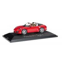 Herpa - Porsche 911 Targa 4, indischrot