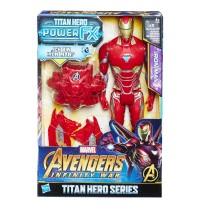 Hasbro - Avengers Titan Hero Iron Man mit Power FX Pack