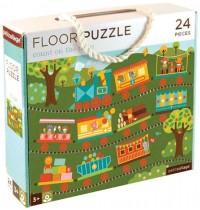 Petit Collage - Floor Puzzle Zug 24 Teile