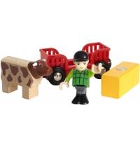 BRIO Bahn - Spielpäckchen Bauer mit Kuh