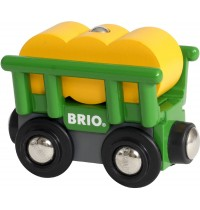 BRIO Bahn - Heuwagen mit Kippfunktion