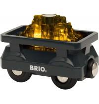 BRIO Bahn - Goldwaggon mit Licht