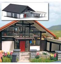 Busch Modellbahnzubehör - HUF® Haus grau/schwarz