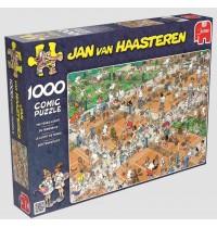 Jumbo Spiele - Puzzle - Jan van Haarsteren - Der Tennisplatz, 1000 Teile