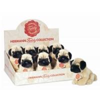 Teddy-Hermann - Mops sitzend, 15 cm