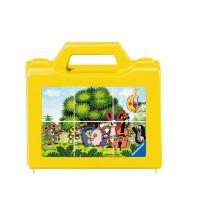 Ravensburger Puzzle - Würfelpuzzle - Der Kleine Maulwurf im Garten, 6 Teile