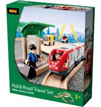 BRIO Bahn - Straßen und Schienen Reisezug Set