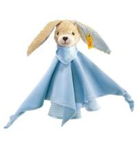 Steiff - Babywelt - Spielzeug - Schmusetücher - Hoppel Hase Schmusetuch, blau, 28cm