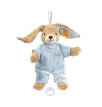 Steiff - Babywelt - Spielzeug - Spieluhren - Hoppel Hase Spieluhr, blau, 20cm