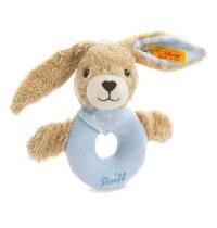 Steiff - Babywelt - Spielzeug - Greifringe & Rasseln - Hoppel Hase Greifring mit Rassel, blau, 12cm
