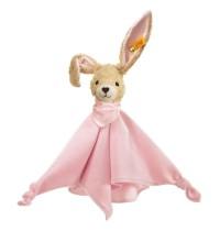 Steiff - Babywelt - Spielzeug - Schmusetücher - Hoppel Hase Schmusetuch, rosa, 28cm