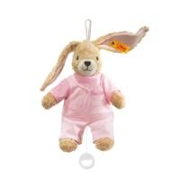 Steiff - Babywelt - Spielzeug - Spieluhren - Hoppel Hase Spieluhr, rosa, 20cm