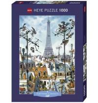 Heye - Standardpuzzle 1000 Teile - Loup, Eiffel Tower