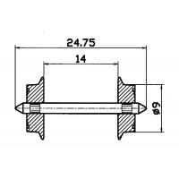 Roco - H0 - Wechselstromradsatz Durchschnitt 9 mm