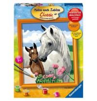 Ravensburger Spiel - Malen nach Zahlen Classic - Stolze Pferdemutter