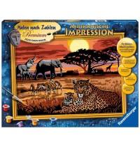 Ravensburger Spiel - Malen nach Zahlen Premium - Afrikanische Impression