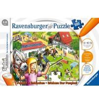 Ravensburger Puzzle - tiptoi - Entdecken - Erleben: Der Ponyhof, 100 Teile