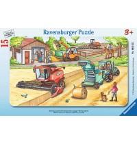 Ravensburger Puzzle - Rahmenpuzzle - Maschinen auf dem Feld, 15 Teile