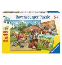 Ravensburger Puzzle - Mein Reiterhof, 3x49 Teile