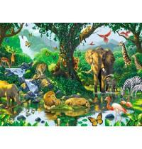 Ravensburger Puzzle - Harmonie im Dschungel, 500 Teile