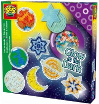 SES Creative - Bügelperlenset Sterne im Dunkeln leuchtend