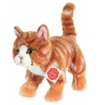 Teddy-Hermann - Katze stehend rot getigert, 20 cm