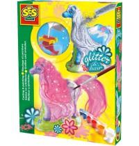 SES Creative - Gipspferd mit Mähne