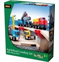 BRIO Bahn - Straßen und Schienen Steinverlade Set