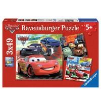 Ravensburger Puzzle - Cars 2 - Weltweiter Rennspaß, 3x49 Teile