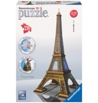 Ravensburger Puzzle - 3D Vision Puzzle - Eiffelturm, 216 Teile