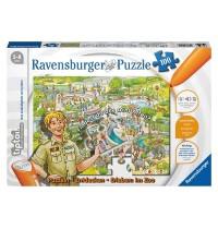 Ravensburger Puzzle - tiptoi - Entdecken - Erleben: Der Zoo, 100 Teile