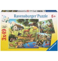 Ravensburger Puzzle - Wald-/Zoo-/Haustiere, 3x49 Teile