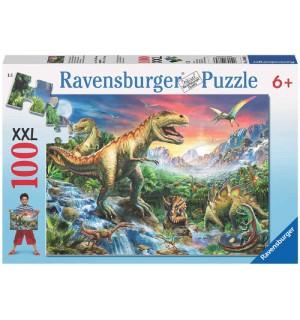 Ravensburger Puzzle - Bei den Dinosauriern, 100 Teile
