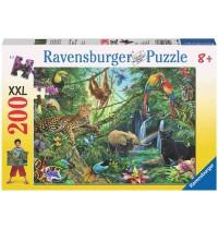 Ravensburger Puzzle - Tiere im Dschungel, 200 XXL-Teile