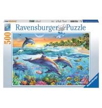 Ravensburger Puzzle - Bucht der Delfine, 500 Teile