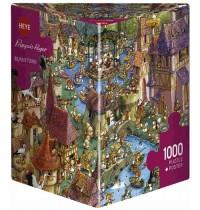 Heye - Dreieckspuzzle 1000 Teile - Francois Ruyer, Bunnytown