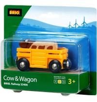 BRIO Bahn - Tierwagen mit Kuh