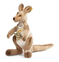 Steiff - Kuscheltiere - Wildtiere - Kango Känguru mit Baby, beige gespitzt, 40cm